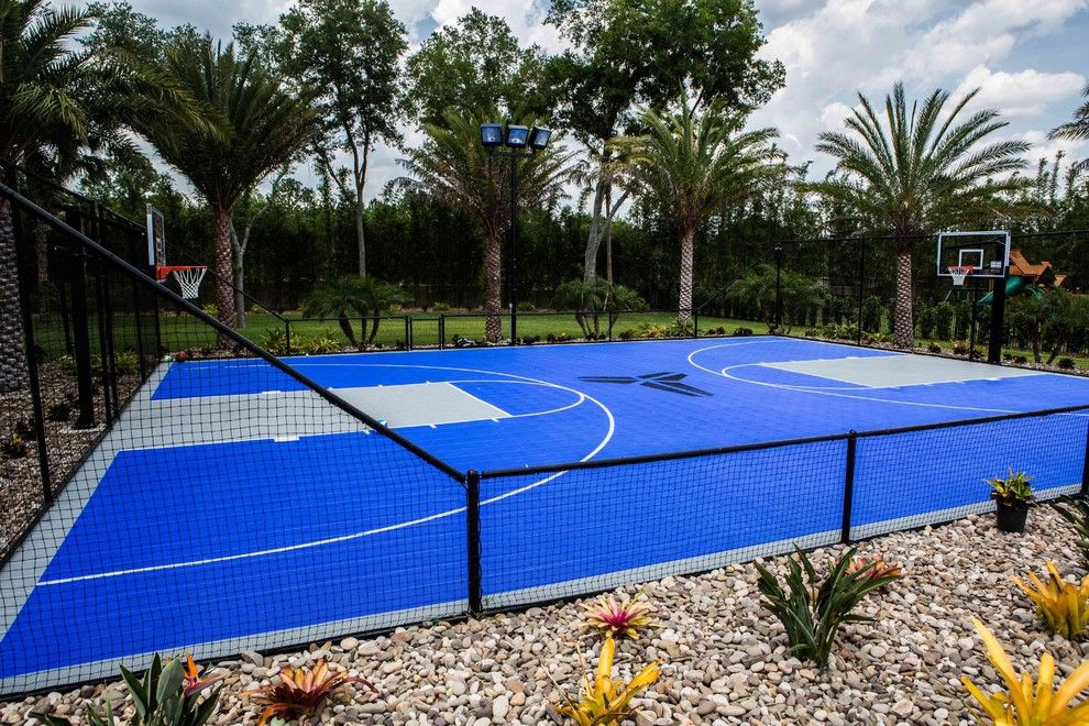 Dimensions of a Basketball Court for a Tropical Landscape with a Court and April 2016 Sanford Home by Sport Court Cfl