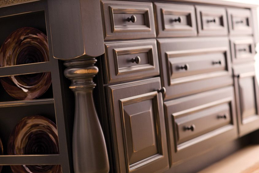 Distressing Furniture for a Traditional Kitchen with a Remodel and Mountain Resort by Dura Supreme Cabinetry