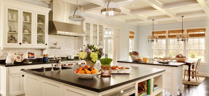 Do I Need a Boxspring for a Traditional Kitchen with a Pendant Light and Expansive Kitchen by Garrison Hullinger Interior Design Inc.