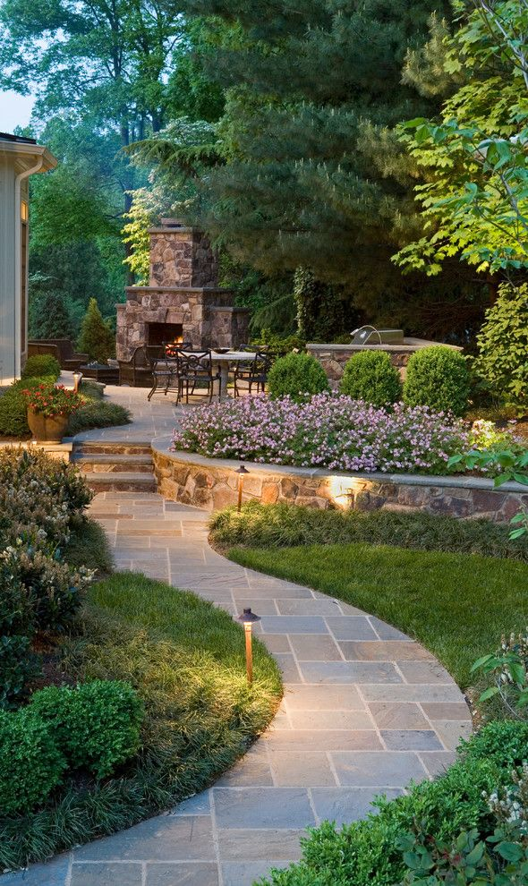 Do You Need a Boxspring for a Traditional Landscape with a Lirope and Sophisticated Surrounding by Surrounds Landscape Architecture + Construction