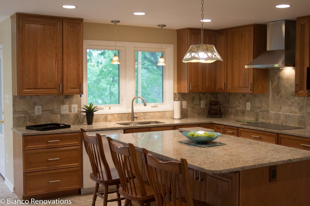 Dominion Electric Va for a Traditional Kitchen with a Range Hoods and Rear Extension in Alexandria, Va by Bianco Renovations