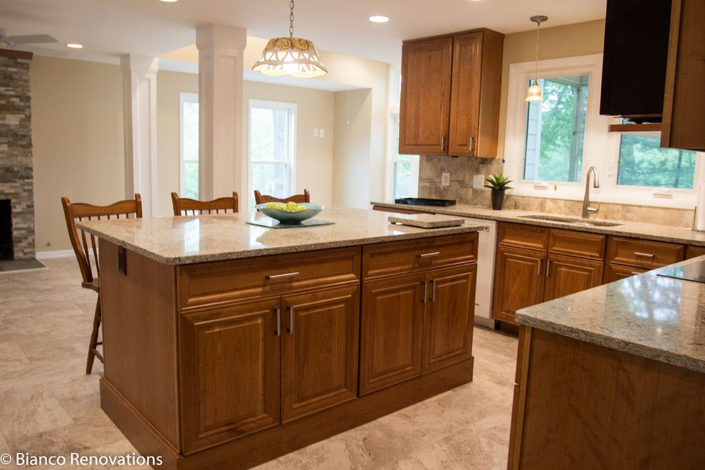 Dominion Electric Va for a Traditional Kitchen with a Traditional Kitchen and Rear Extension in Alexandria, Va by Bianco Renovations
