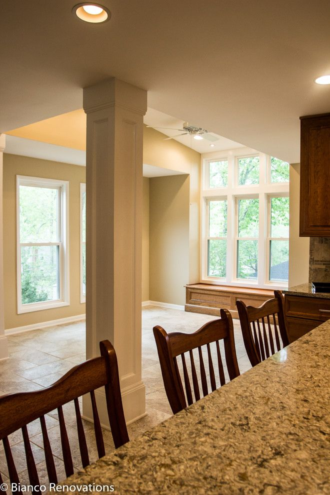 Dominion Electric Va for a Traditional Kitchen with a White Window Trim and Rear Extension in Alexandria, Va by Bianco Renovations