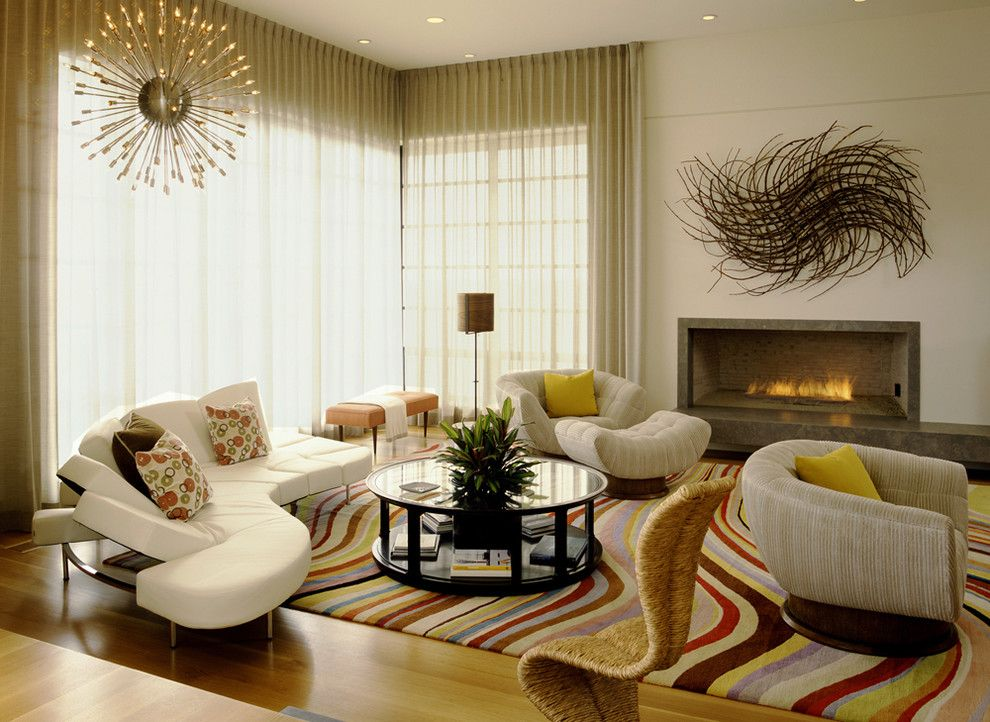 Don Roberto Jewelers for a Contemporary Living Room with a Wall Decor and French Haven by Tommy Chambers Interiors, Inc.