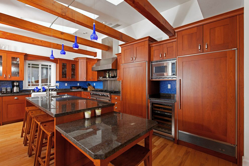 Don Roberto Jewelers for a Craftsman Kitchen with a Stainless Steel Shelf and Craftsman by Architect Mark D. Lyon, Inc.