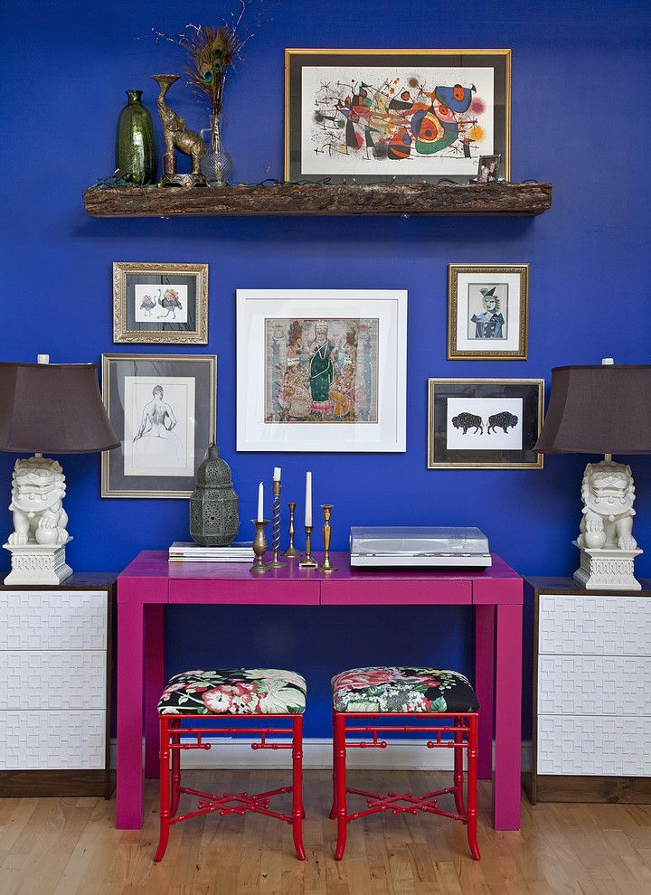 Don Roberto Jewelers for a Eclectic Home Office with a Red and Naomi's House by Design Manifest