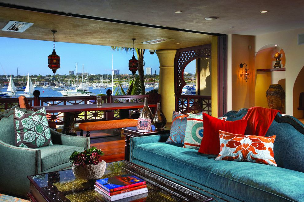 Don Roberto Jewelers for a Eclectic Living Room with a Arched Niche and Bayfront House 1 by Mark Becker Inc