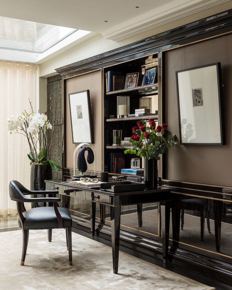 Don Roberto Jewelers for a Transitional Home Office with a Bespoke Furniture and Knightsbridge | London by Oficina Inglesa London