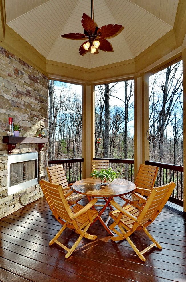 Donald Fagan for a Contemporary Porch with a Custom and the Marcourt   Plan #1173 by Donald A. Gardner Architects
