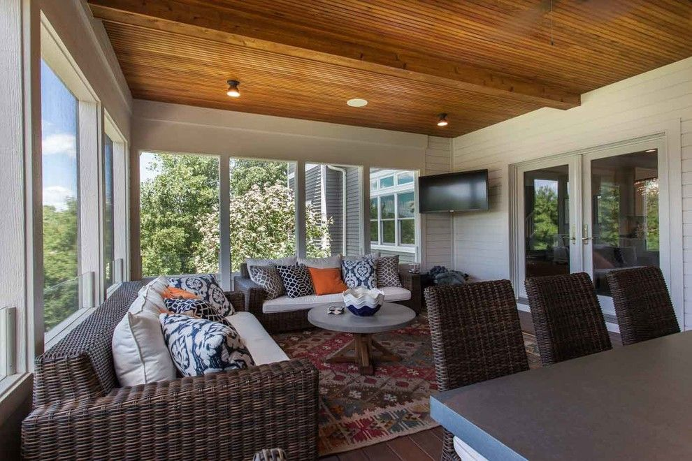 Donald Fagan for a Contemporary Porch with a Screened and Lake Elmo Screened Porch by Mcdonald Remodeling