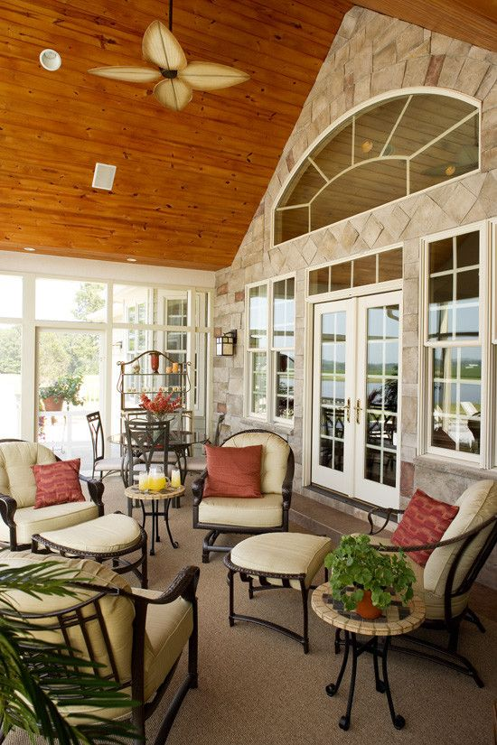 Donald Fagan for a Traditional Porch with a Entertaining and the Edgewater Plan# 1009 by Donald A. Gardner Architects