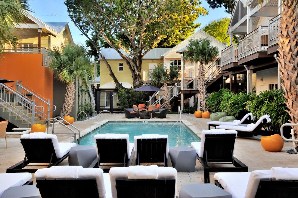 Dorchester Hotel Miami for a Modern Pool with a Fountain and the Truman Hotel by Debra Yates
