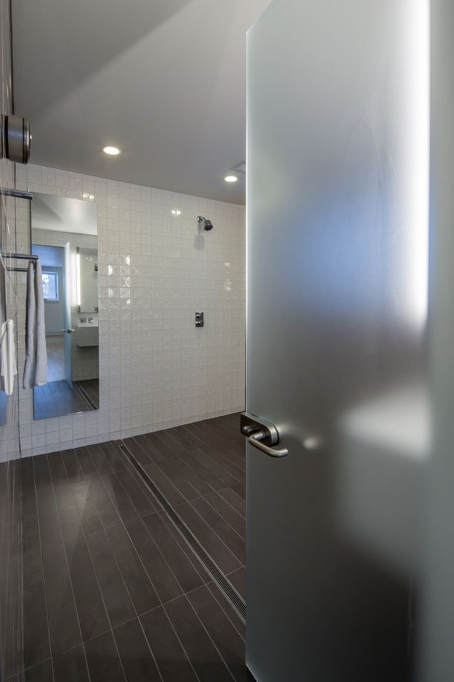 Dorma Usa for a Contemporary Bathroom with a Contemporary and Minneapoli Riverfront Mid Century Modern Remodel by Citydeskstudio, Inc.