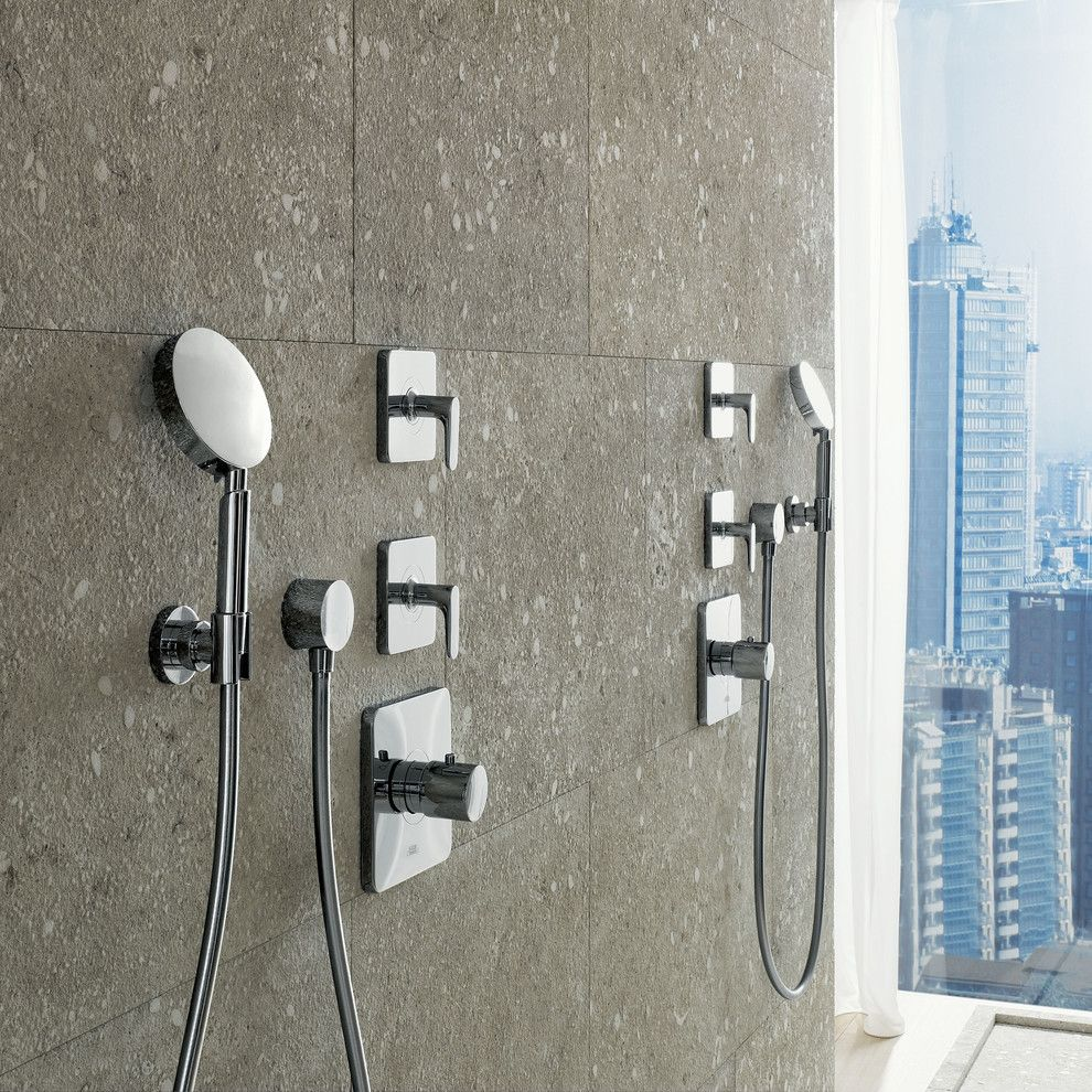 Dorma Usa for a Modern Bathroom with a Handshower and Axor Citterio M Shower by Hansgrohe Usa
