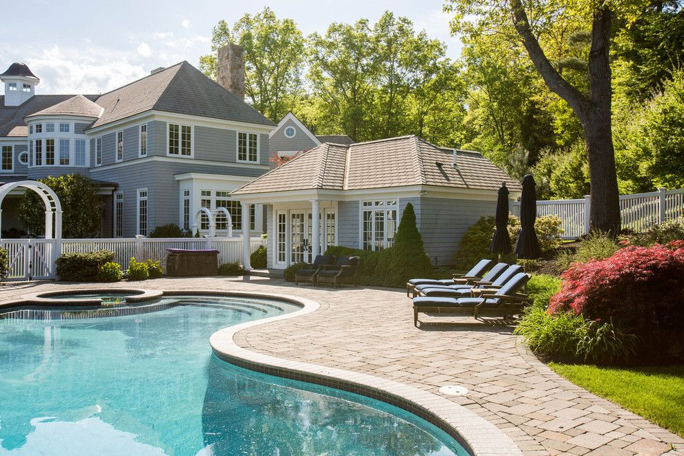 Dover Pools for a Traditional Pool with a Benoit Mizner Simon Amy Mizner and Dover Ma Home for Sale by Amy Mizner, Benoit Mizner Simon & Co.