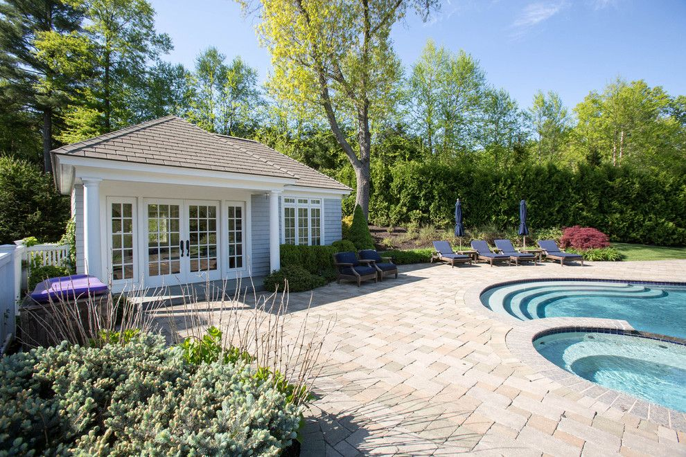 Dover Pools for a Traditional Pool with a Dover Real Estate Broker and Dover Ma Home for Sale by Amy Mizner, Benoit Mizner Simon & Co.