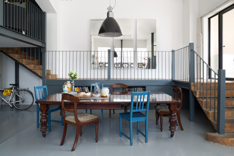 Dr Energy Saver for a Eclectic Dining Room with a Eclectic Dining Area and Urban Warehouse Flat by Element Studios