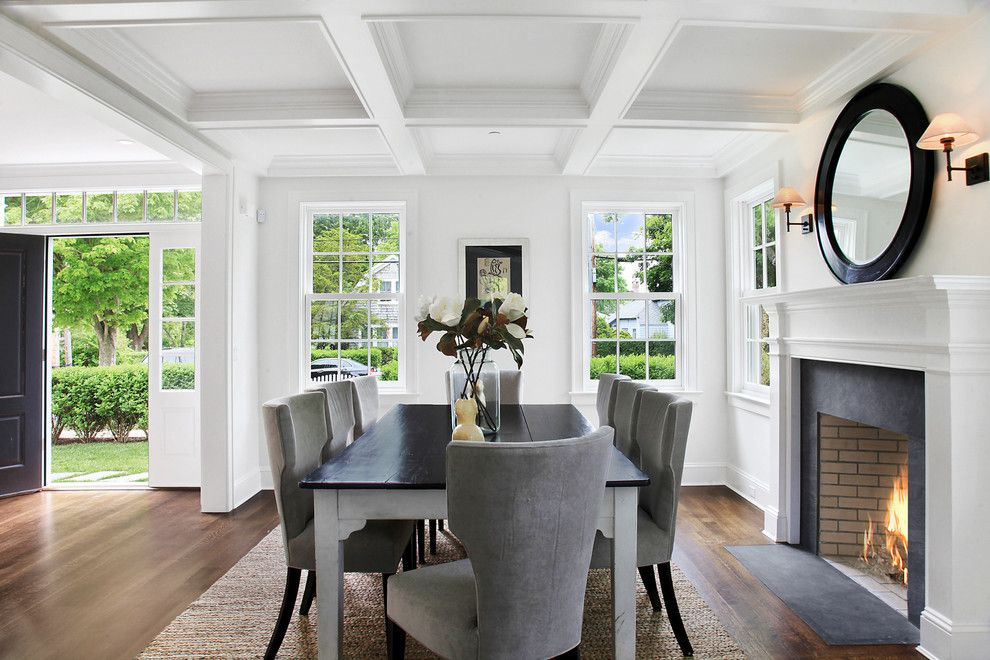 Dr Energy Saver for a Traditional Dining Room with a Vase and 240 Little Plains Rd. Southampton Ny by Meridith Baer Home