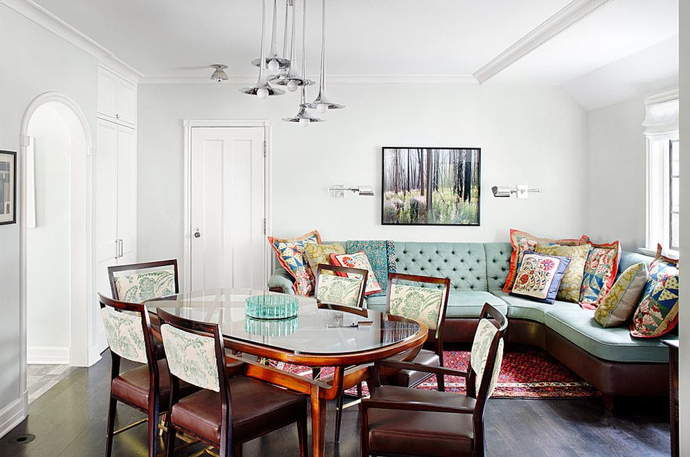 Dr Energy Saver for a Traditional Dining Room with a Wood Molding and Winnetka Residence by Alan Design Studio