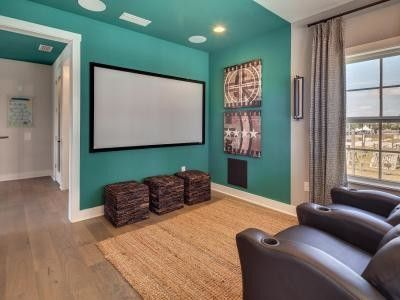 Dream Finders Homes for a Transitional Home Theater with a High End Homes and Stadium Home by Dream Finders Homes