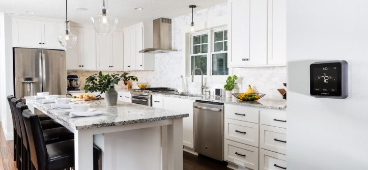 Dry Bar Upper East Side for a Contemporary Kitchen with a Home Technology and Honeywell Home by Honeywell Home