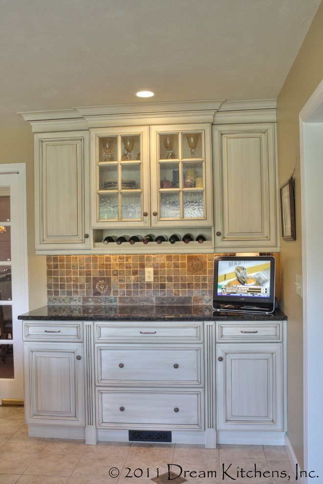 Dry Bar Upper East Side for a Traditional Kitchen with a Wet Bar and Kitchen Remodel Westford Ma by Dream Kitchens