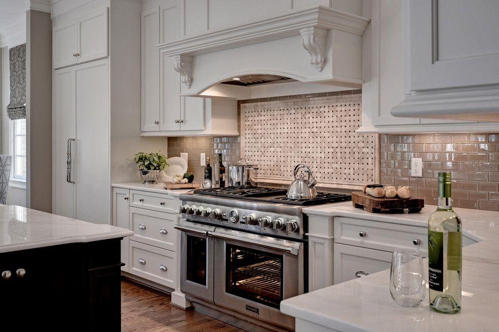 Dry Bar Upper West Side for a Traditional Kitchen with a White Countertop and Thermador by Thermador Home Appliances