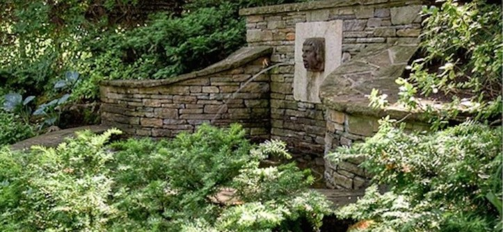 Drying Hydrangeas for a Traditional Landscape with a Dry Stone Columns and Timeless by Landscape Plus Ltd