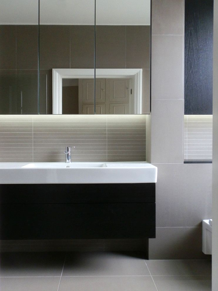 Duravit Usa for a  Bathroom with a Floating Vanity Unit and Portfolio by Rebecca Hatton Interiors Ltd