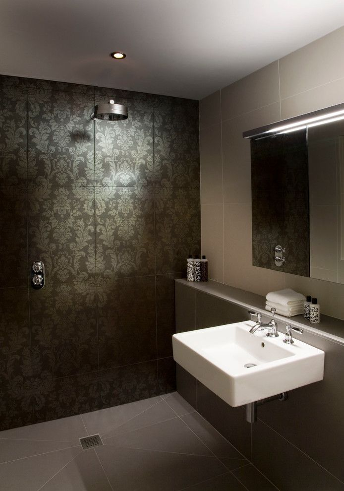 Duravit Usa for a Eclectic Bathroom with a Focal Wall and Master en Suite by Deana Ashby   Bathrooms & Interiors