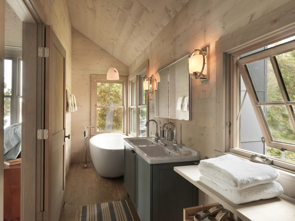 Duravit Usa for a Rustic Bathroom with a Rustic and Haven by Cushman Design Group