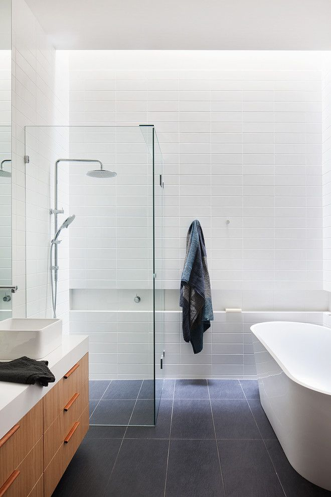 Dutalier for a  Bathroom with a  and Webster St House by Moloney Architects