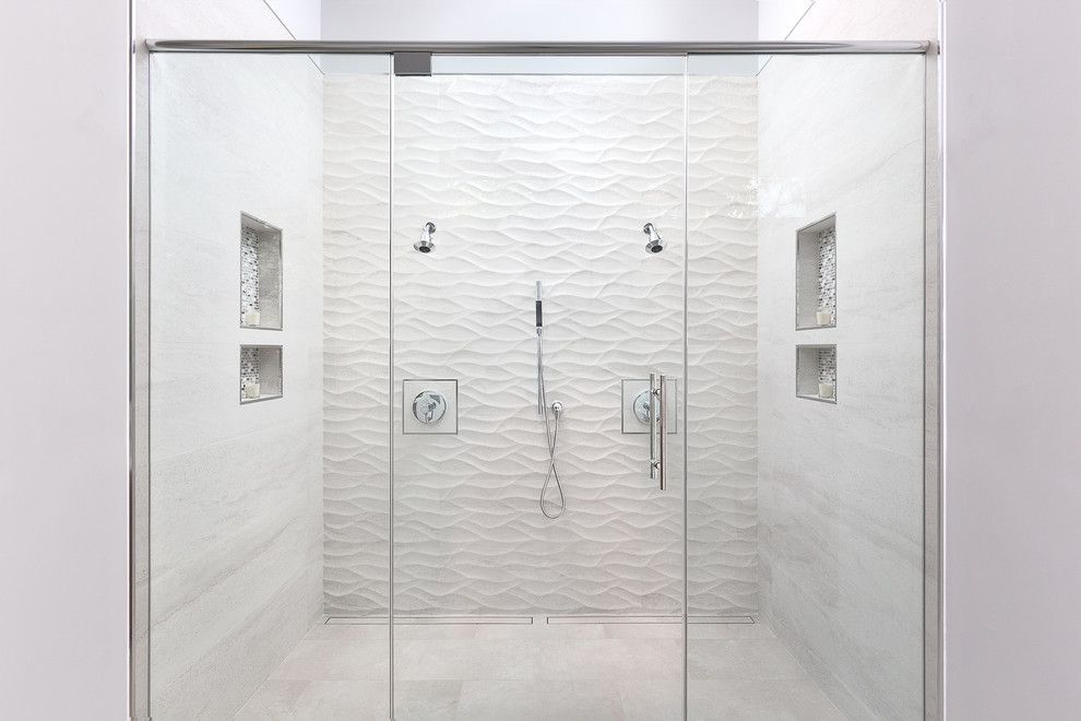 Dutalier for a Contemporary Bathroom with a Double Headed Shower and Modern Master Bath, Sacramento, Ca by Kristen Elizabeth Design