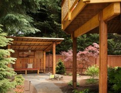 Earth Sheltered Homes for a Asian Landscape with a Stone Paver Pathway and Tour of Remodeled Homes by Walls  Too Windows, Interior Design