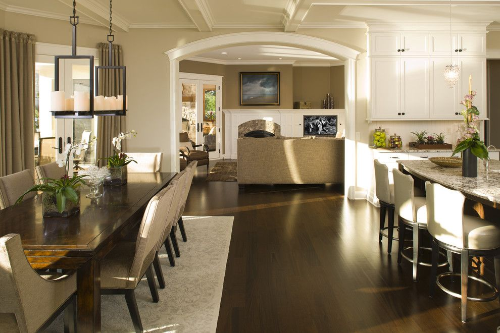 Earth Sheltered Homes for a Traditional Kitchen with a Drapes and Kitchen by Stonewood, Llc