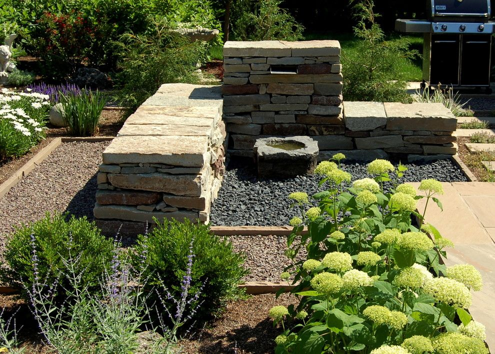 Earthscapes for a Traditional Landscape with a Drystone Wall and Gidman by Earthscape   Landscape Design & Build