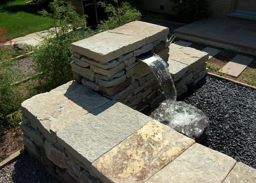 Earthscapes for a Traditional Landscape with a Water and Gidman by Earthscape   Landscape Design & Build