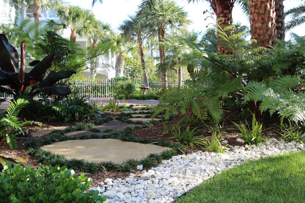 Earthscapes for a Tropical Landscape with a Tropical Landscape and Ozona Residence by Earthscapes Garden Room