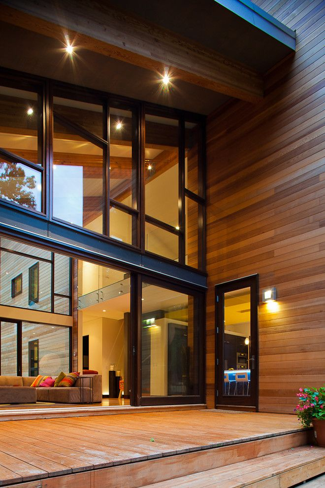 Eclipse Window Tinting for a Contemporary Exterior with a Veranda and Pigeon Creek Residence by Lucid Architecture