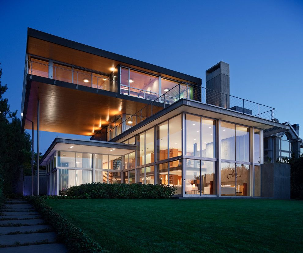 Eclipse Window Tinting for a Modern Exterior with a Grass and Graham Residence by E. Cobb Architects