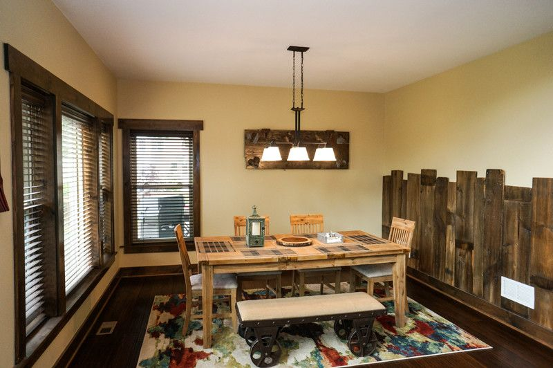 Ecosmart for a Rustic Dining Room with a High Performance Homes and Grand Teton Eco Smart Home | Naperville, Il by Djk Custom Homes