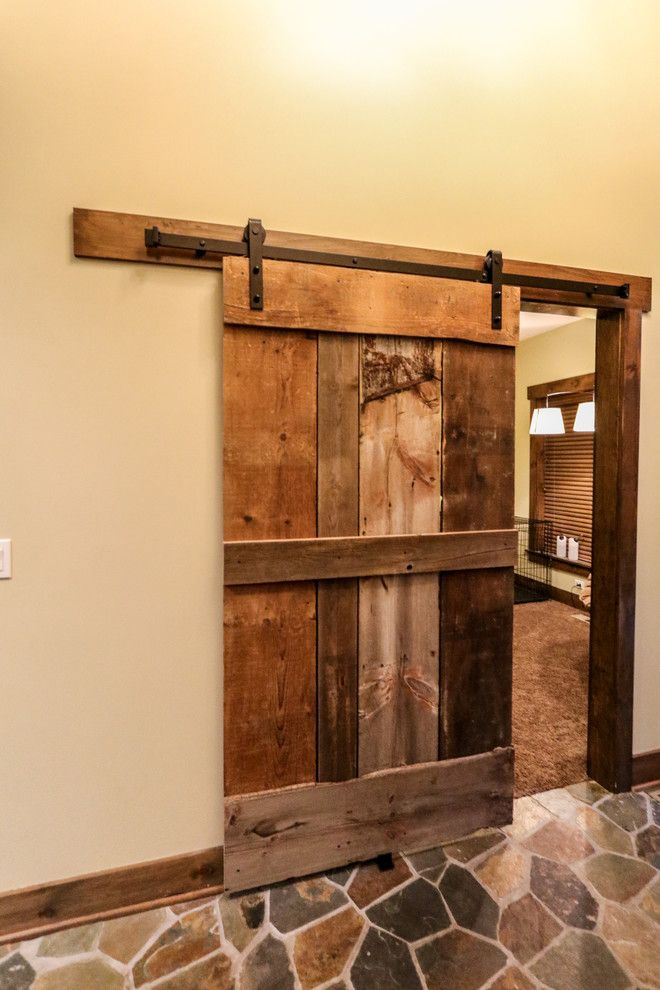 Ecosmart for a Rustic Home Office with a Rustic Homes and Grand Teton Eco Smart Home | Naperville, Il by Djk Custom Homes