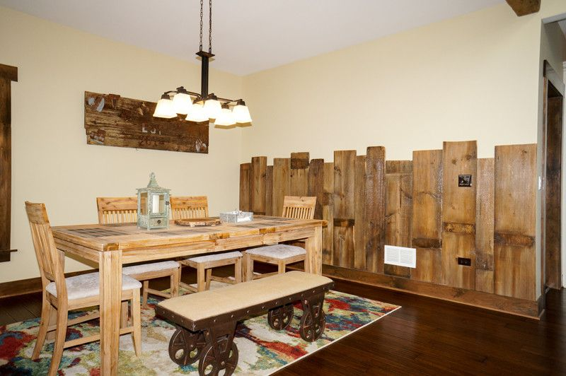 Ecosmart for a Rustic Living Room with a Rustic Dining and Grand Teton Eco Smart Home | Naperville, Il by Djk Custom Homes