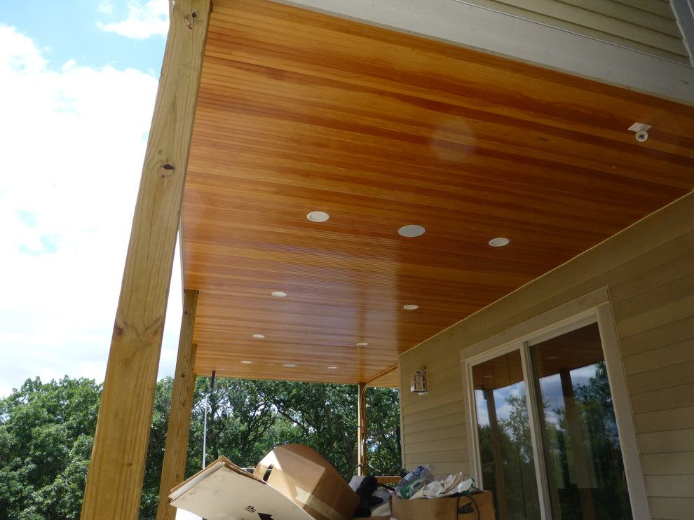Eden Prairie Appliance for a Contemporary Exterior with a Beadboard Ceiling and Eden Prairie Exterior Soffit by Fresh Coat Painters Eden Prairie