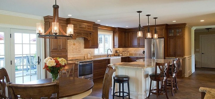 Eden Prairie Appliance for a Traditional Kitchen with a Kitchen Island and Seamless Flow Kitchen by Crystal Cabinets by Curtis Lumber Ballston Spa