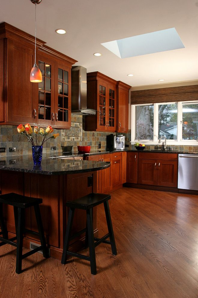 Eden Prairie Appliance for a Transitional Kitchen with a White Window Trim and Medium Tone Transitional Style Kitchen by Normandy Remodeling