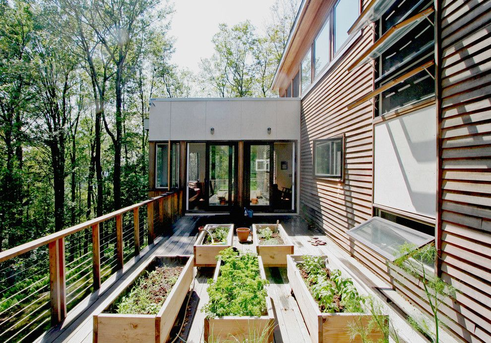 Edens Garden for a Modern Deck with a Raised Beds and Harmony Hill Roof Deck by Resolution: 4 Architecture