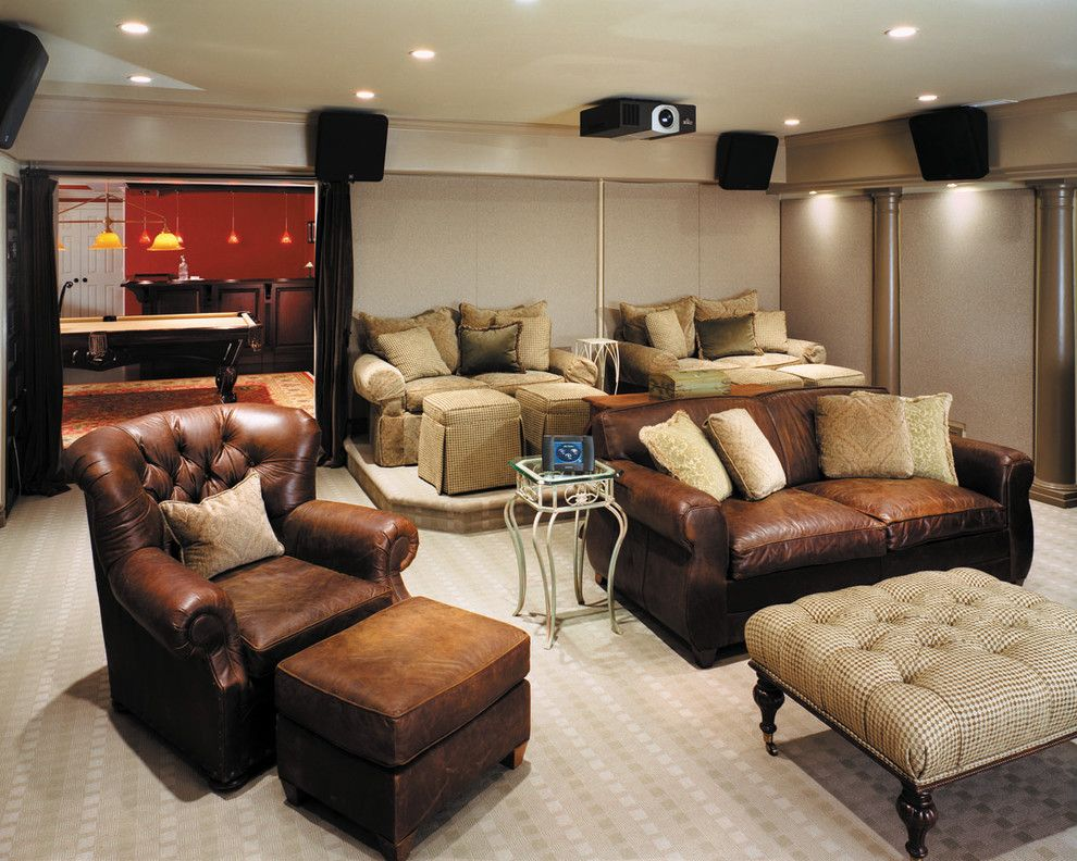 Edina Movie Theater for a Contemporary Home Theater with a Media Room and Comfortable Media Room by Electronics Design Group, Inc.