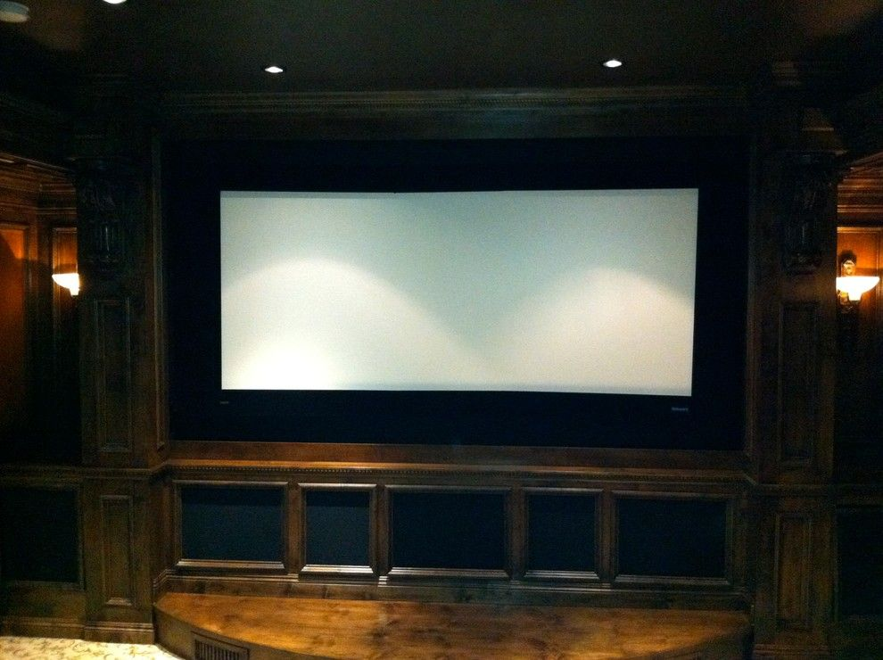 Edina Movie Theater for a Traditional Home Theater with a Built in Media Center and Rancho Santa Fe Full House, and Underground Theater by A/V Consulting