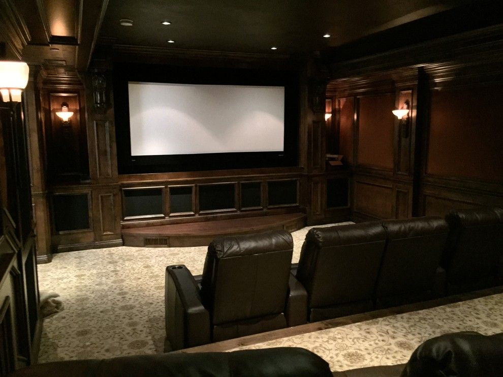 Edina Movie Theater for a Traditional Home Theater with a Movies at Home and Rancho Santa Fe Full House, and Underground Theater by A/v Consulting